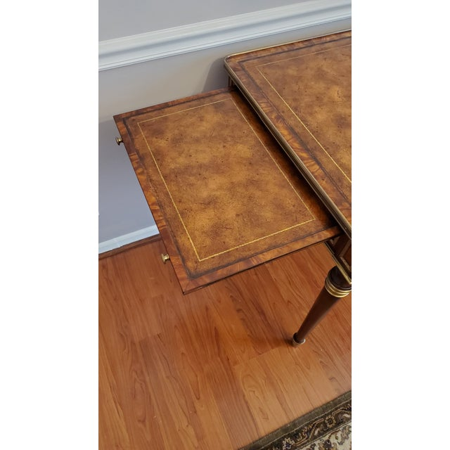 """Metal Theodore Alexander """"Tales From France Writing Desk"""" For Sale - Image 7 of 13"""