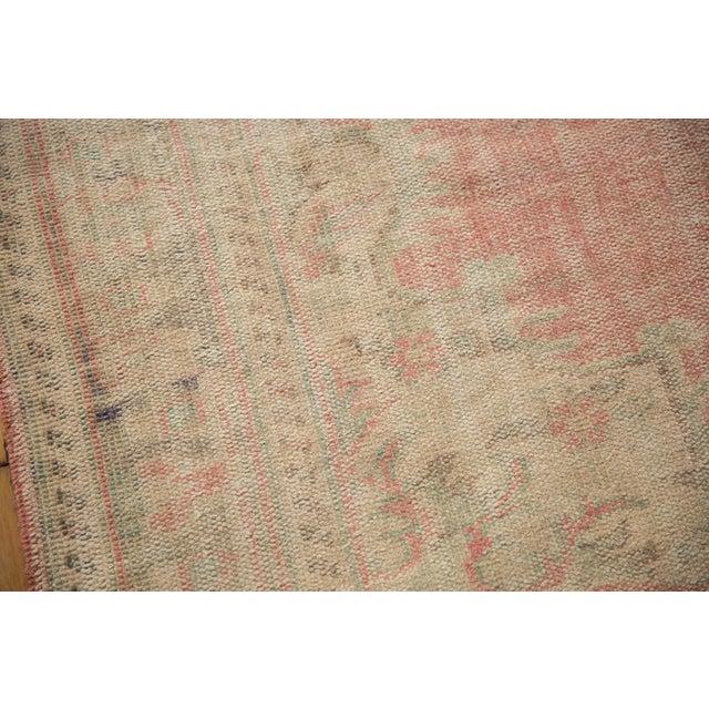 "Vintage Distressed Oushak Carpet - 6'2"" X 10'8"" For Sale - Image 11 of 13"