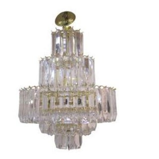 1970s Vintage Lucite 'Wedding Cake' Chandelier For Sale