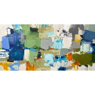 """Large Abstract Mixed Media Painting """"Joyride"""" by Gina Cochran For Sale"""