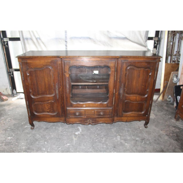French Provincial 19th Century French Country Oak Dessert Buffet For Sale - Image 3 of 7