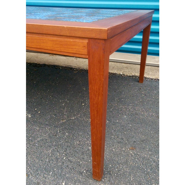 Blue Tiled Coffee Table - Image 6 of 7