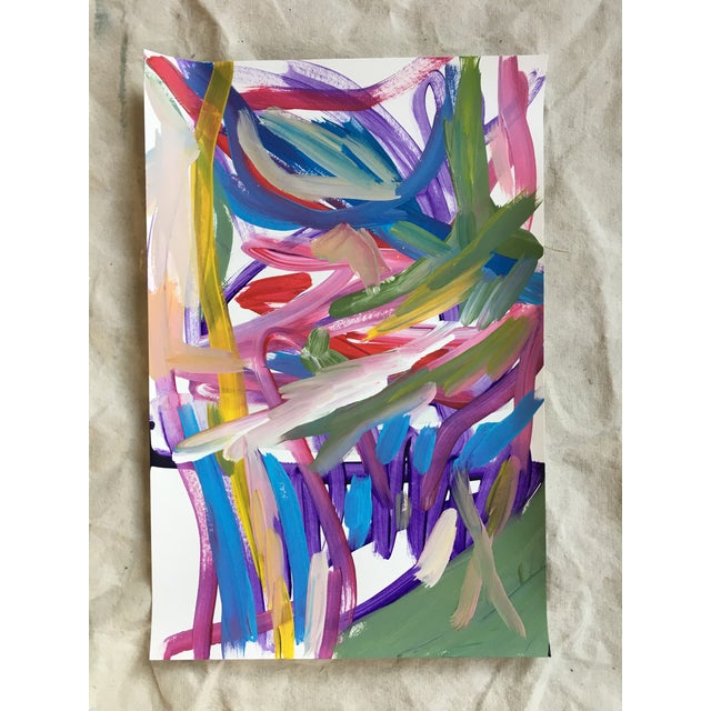 Abstract No. 291 Original Painting By Jessalin Beutler For Sale - Image 3 of 4