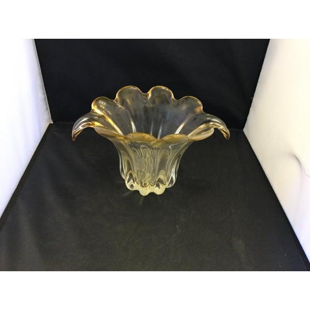 Amber Petal Vase For Sale - Image 4 of 4