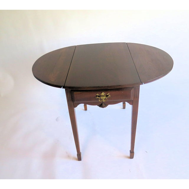 Late 19th Century Chippendale Style Diminutive Pembroke Table For Sale - Image 5 of 5