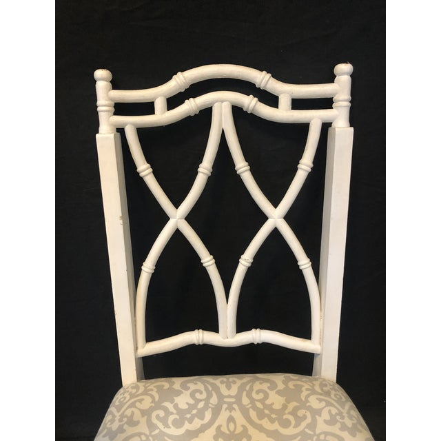 Fabulous, hard to find, set of eight Thomasville faux bamboo vintage chairs. Need updating. I may be able to help find...