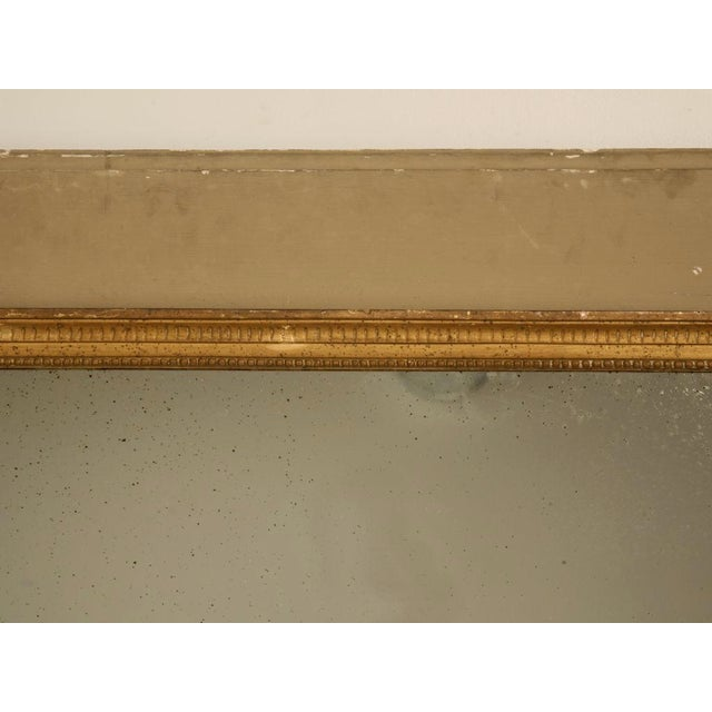 Glass Circa 1880 French Painted Trumeau Mirror For Sale - Image 7 of 12