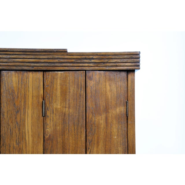 Tan Art Deco Cabinet With Five-Panel Folding Doors From Burma For Sale - Image 8 of 13