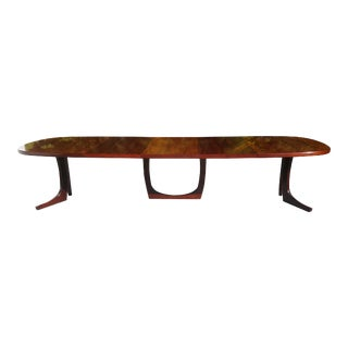 Monumental Danish Modern Rosewood Kai Kristiansen Conference Table / Dining Table For Sale