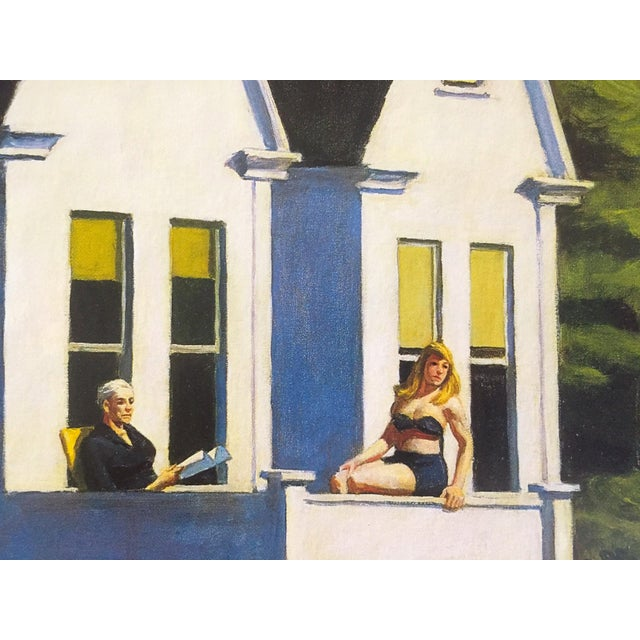 "Edward Hopper Vintage 1999 Lithograph Calendar Print "" Second Story Sunlight "" 1960 For Sale In New York - Image 6 of 9"