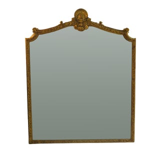 Late 18th Century Large Italian Louis XV Style Gilt Wood Mirror For Sale