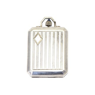 20th Century Art Deco Sterling Snuff Pillbox Case For Sale