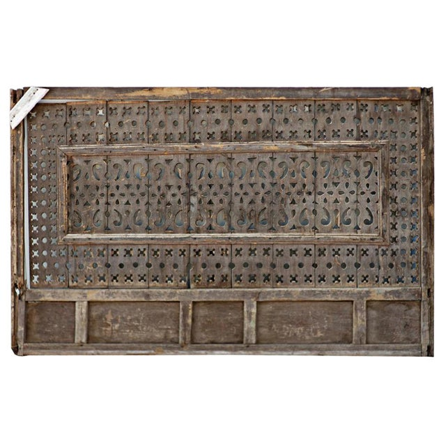 Large Vintage Egyptian Window Screen. Intricately carved lattice work. Originally used to cover the windows in Egyptian...