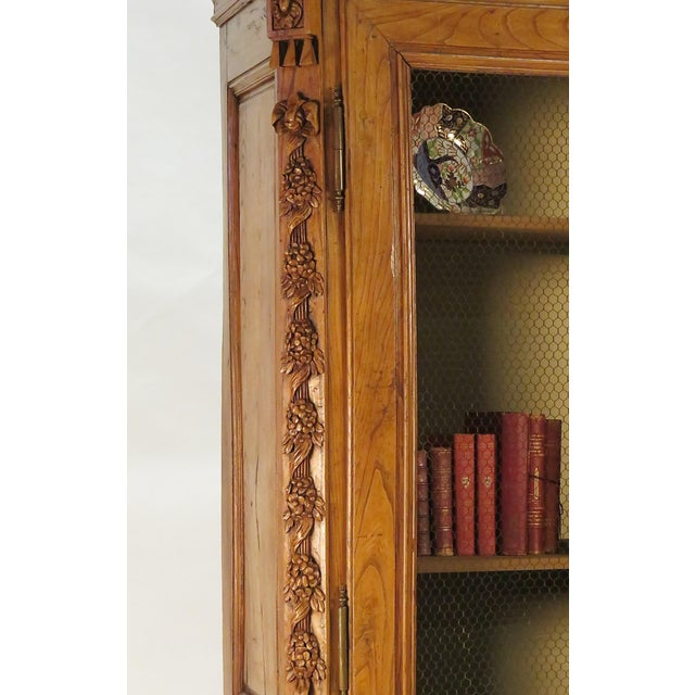 Brown Early 19th Century Elm Richly Carved Baltic Cabinet For Sale - Image 8 of 8