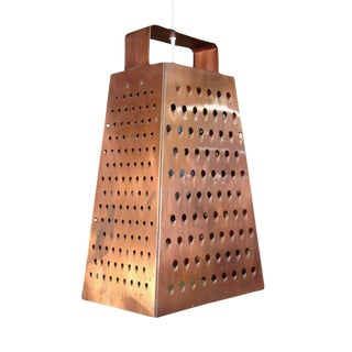 Curtis Jere Cheese Grater Hanging Chandelier For Sale