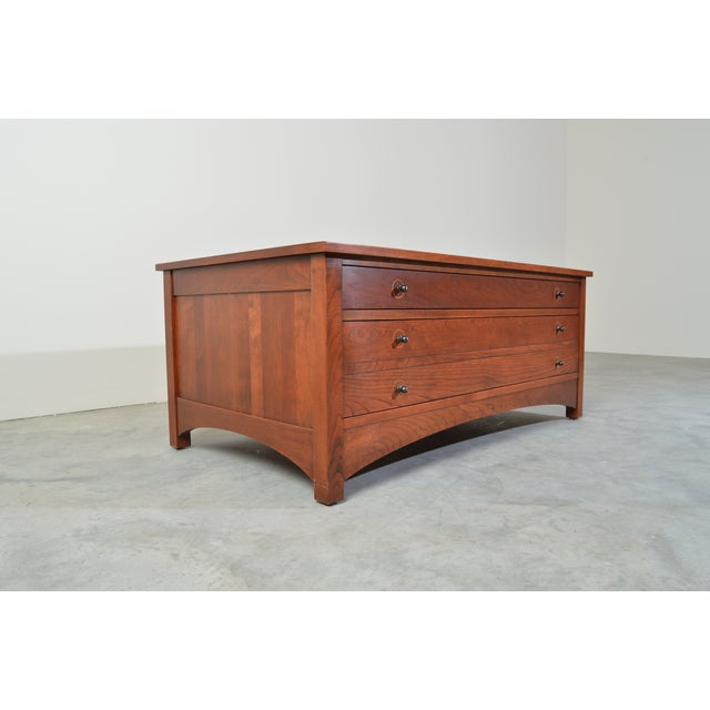 2010s Harvey Ellis for Stickley Square Storage Cocktail/Coffee Table For Sale - Image 5 of 11