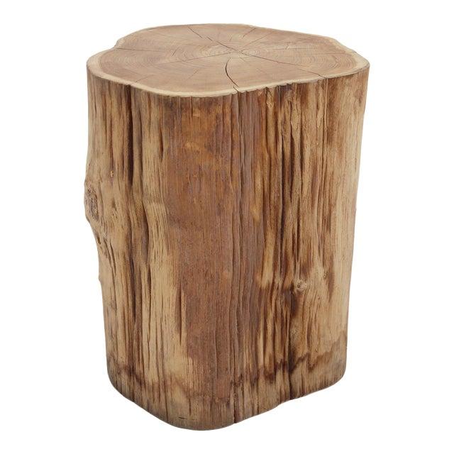 Organic Teak Stump Stool - Image 1 of 3