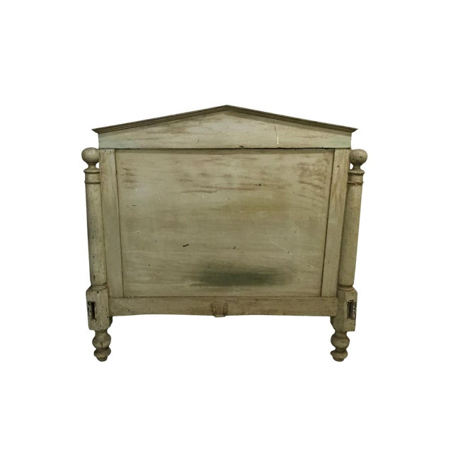 Antique Wooden French Country Headboard For Sale