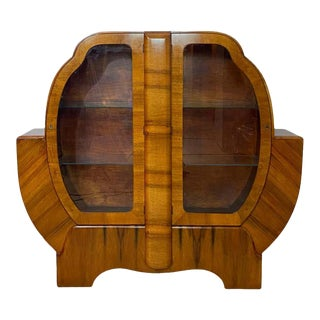 Art Deco Walnut Display Case, English, Circa 1930 For Sale