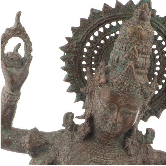 Shiva Bronze Statue - Image 2 of 4