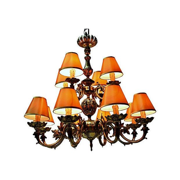 12 Arm Dutch Brass Chandelier - Image 5 of 9