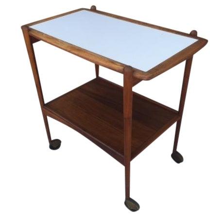 Danish Modern Teak Bar Cart - Image 1 of 4