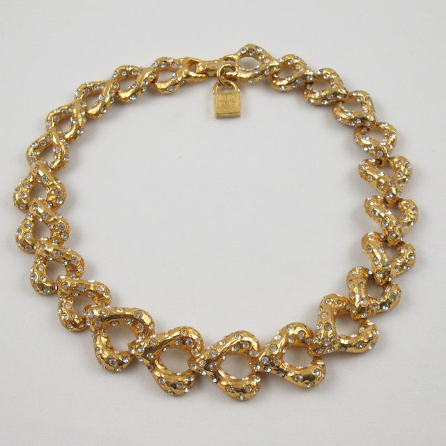 Gold French Designer Alexis Lahellec Paris Signed Jeweled Choker Necklace For Sale - Image 8 of 8