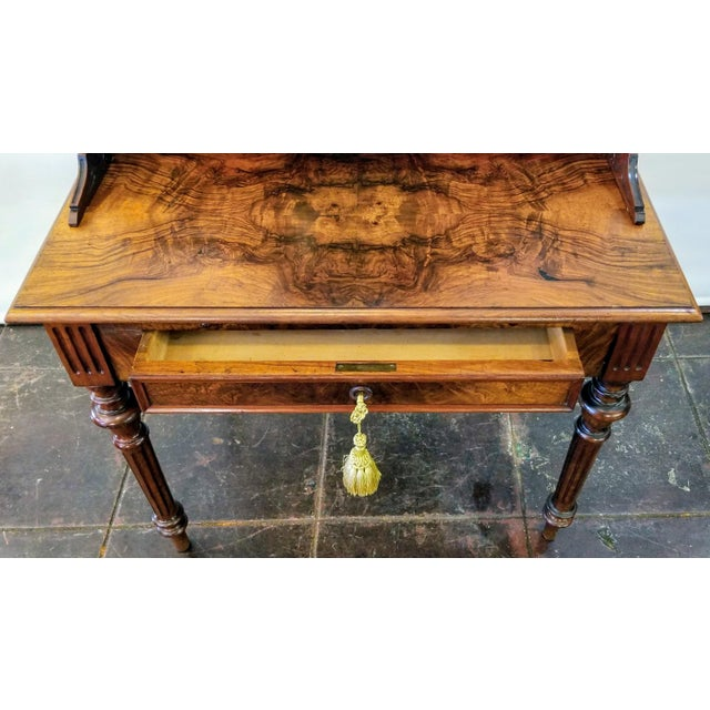 Late 19th Century North German Gründerzeit Period Writing Desk in the Form of Historicism With Neoclassic Decoration For Sale - Image 5 of 9