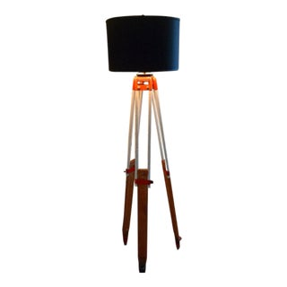 Floor Lamp From Surveyor's Tripod, David White, Circa 1970s. Adjustable With 3-Way Bulb. Ships Free. For Sale