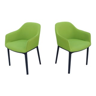 Modern Ronan and Erwan Bouroullec for Vitra Green Softshell Chairs - a Pair For Sale