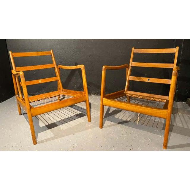 Mid-Century Modern France and Daverkosen Teak Armchairs, Mid-Century Modern For Sale - Image 3 of 13