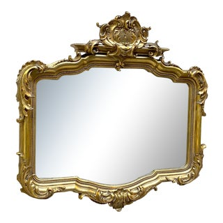 19th Century French Rococo Gilt Mirror For Sale