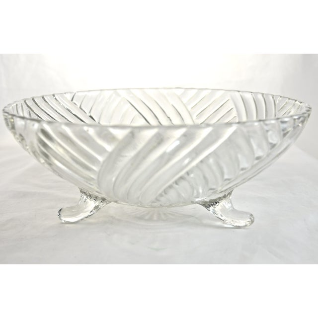 Traditional Footed Swirl Bowl For Sale - Image 3 of 3