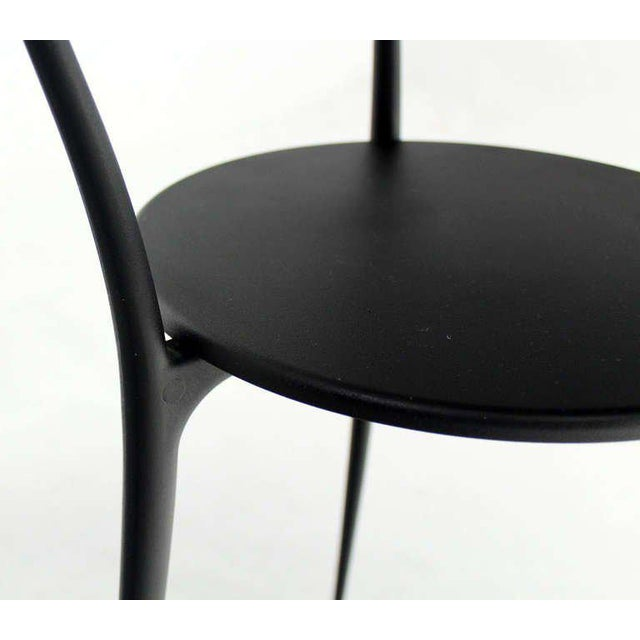 Mid-Century Italian Modern Tri-Leg Cafe Table by Arper For Sale In New York - Image 6 of 10