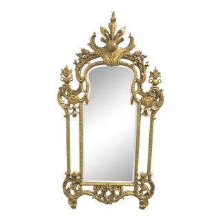 Italian Rococo Gilt Carved Mirror For Sale