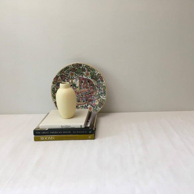 Large Vintage Rose Medallion Bowl For Sale - Image 9 of 10