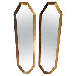 Pair of Gilt Wood Midcentury Modern Mirrors For Sale
