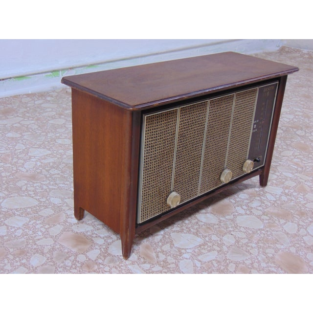Zenith 1930s Vintage Zenith Brown Radio For Sale - Image 4 of 12