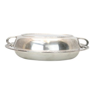 Medford Electroplated Silver Covered Serving Dish For Sale