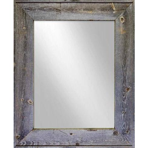 Salvaged Gray Barn Wood Mirror - Image 1 of 3