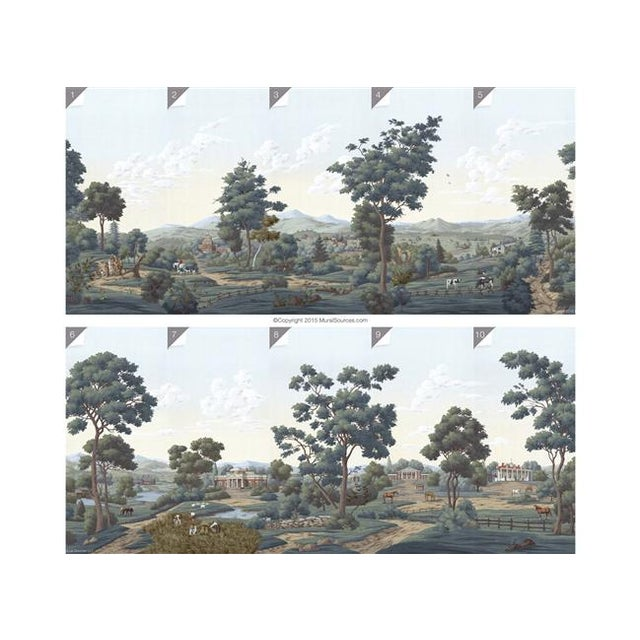 Not Yet Made - Made To Order Casa Cosima Chesapeake Wallpaper Mural - Sample For Sale - Image 5 of 7