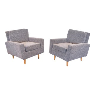 Pair of Florence Knoll Model 25 Lounge Chairs