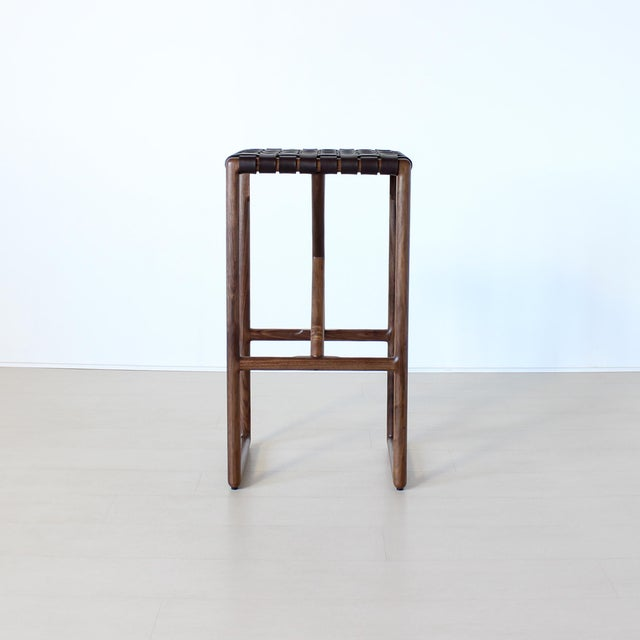 Contemporary Montgomery Stool For Sale - Image 3 of 8