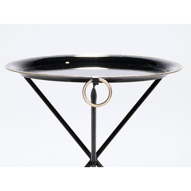 Black Signed Christian Dior Folding Side Table, 1970s For Sale - Image 8 of 11