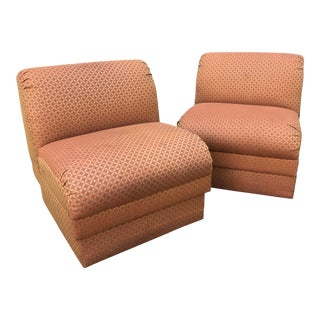 1980s Mid-Century Modern Slipper Chairs - a Pair For Sale