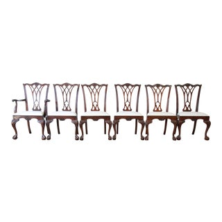 Drexel Heritage Chippendale Mahogany Dining Chairs - Set of 6 For Sale