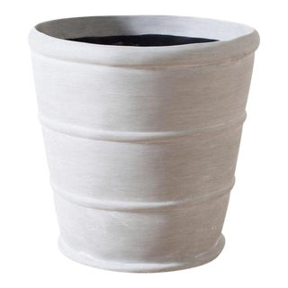 Traditional Light Gray Resin Strapped Pot For Sale