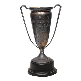 1932 Silver Plated Cup Trophy with Bakelite Base