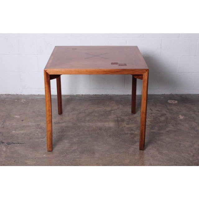 Brown Edward Wormley for Dunbar Game Table with Natzler Tiles For Sale - Image 8 of 11