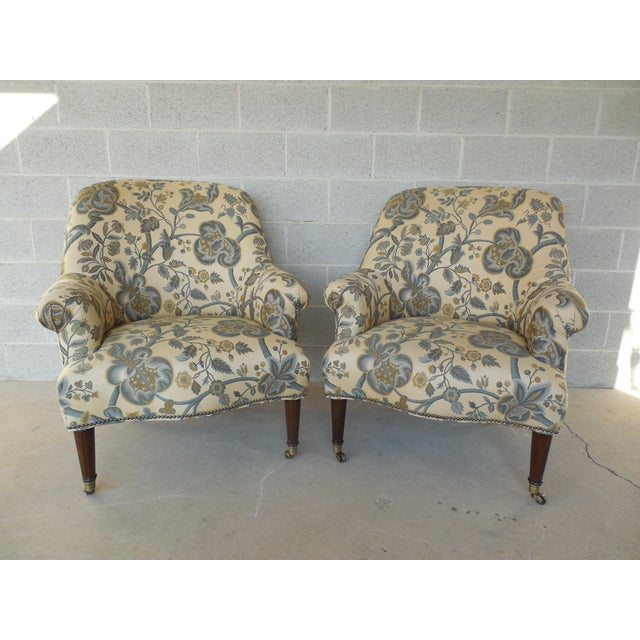 Kravet Furniture Regency Style Accent Club Chairs - A Pair - Image 2 of 11